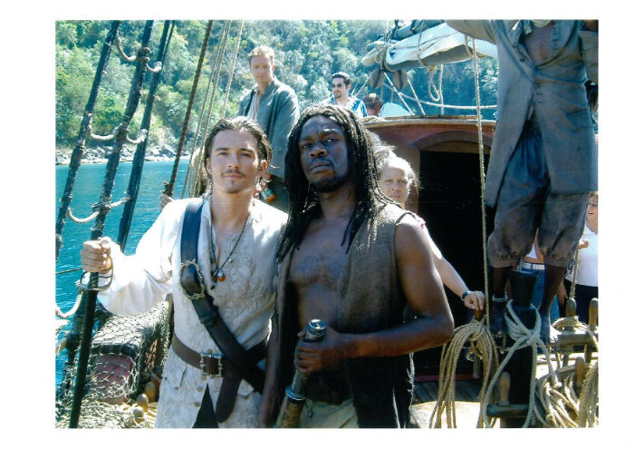Robbie Gee & Orlando Bloom