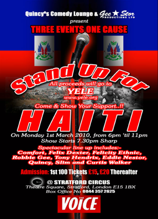 STAND UP FOR HAITI_FRONT